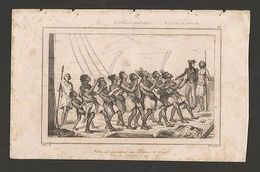 RARE! ANTIQUE PRINT 19CenturyYear1830 NEW ZEALAND NATIVE DANCE SAILING BOAT  Z1 - Postcards