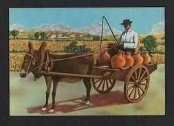 MONCHIQUE ALGARVE ART POSTCARD 1970years PORTUGAL Donkey Cart Z1 - Postcards