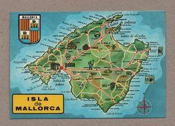ART POSTCARD 1970years Map Maps ISLA DE MALLORCA SPAIN ESPAÑA ESPANA Z1 - Postcards