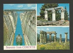 GREECE  Postcard 1960 Years KORINTH KORINTHE Ship Ships Train Trains Railway  Z1 - Postcards