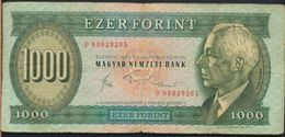 °°° HUNGARY - 1000 FORINT 1983 °°° - Ungheria