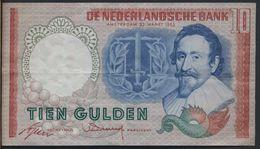 °°° NETHERLANDS - 10 GULDEN 1953 °°° - [2] 1815-… : Regno Dei Paesi Bassi