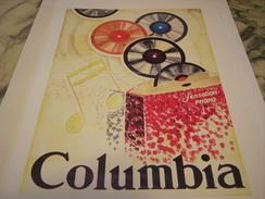 ANCIENNE PUBLICITE  ART DECO DE ORSI POUR COLUMBIA 1928 - Musik & Instrumente