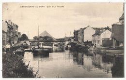 MARCHIENNE-AU-PONT - Quai De La Sambre 1923 (navigation Interieure, Binnenscheepvaart, Péniche, Schuit...) - Charleroi