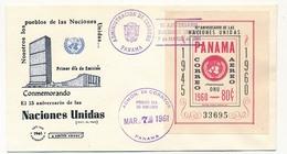 PANAMA - FDC - 15eme Anniversaire Des Nations Unies - 1961 - Panama