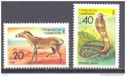 1992. Turkmenistan, Fauna Of Turkmenistan, 2v, Mint/** - Turkmenistán