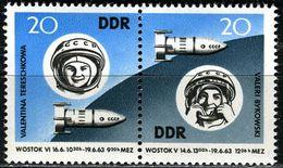 DDR - Mi 970 / 971 = WZd 90 - ** Postfrisch (D) - 20-20Pf  Wostock 5 Und Wostock 6 - DDR