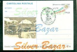 -CARTOLINA-INTERO POSTALE-SOPRASTAMPA PRIVATA-ANNULLO SPECIALE-REGGELLO-CROCE ROSSA-GUERRA 1914-18 - 1946-.. République
