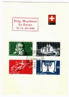 1948  Centenaire De La Constitution Eidg. Musikfest St. Gallen - Briefe U. Dokumente
