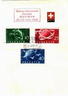 1949  75è Ann UPU 294-6 Sur Feuillet  «Meeting International D'aviation Genève 20-22 Mai 1949» - Briefe U. Dokumente