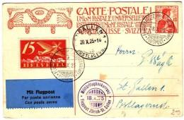 1925  Militarflugkonkurrenz  Flugpostkarte - Poste Aérienne