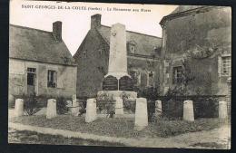 SAINT-GEORGES-DE-LA COUEE -   Sarthe- Le Monument Aux Morts-  Recto Verso -  Paypal Sans Frais - Autres Communes