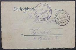 Carte-lettre Cachet RETHEL DEUTSCHES SOLDATENHEIM DER KOMMANDANTUR Franchise Militaire 1917 Feldpost - Poststempel (Briefe)