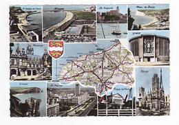 50 Le Département Seine Maritime Carte Ou Plan Multivues Le Havre Rouen Dieppe St Valéry Le Tréport Etretat La Cigogne - Unclassified
