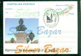 -CARTOLINA-INTERO POSTALE-SOPRASTAMPA PRIVATA-ANNULLO SPECIALE-VIAREGGIO-MONUMENTO A P.B. SHELLEY - 6. 1946-.. Repubblica