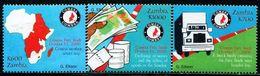 KE0315 Zambia 2000 Economic Development Truck Map Banknotes 3V MNH - Philatélie & Monnaies