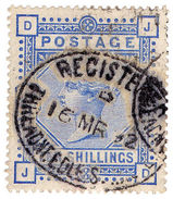 (I.B-CK) QV Postal : SG 183 - 10/- Ultramarine - 1840-1901 (Victoria)