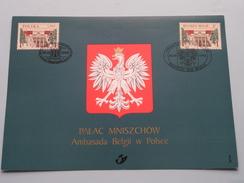 PALAC MNISZCHOW Ambasada Belgii W Polsce - 1998 ( Zie Foto's ) Brussel / Warszawa ! - Cartes-maximum (CM)