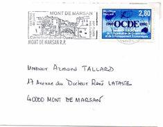 Lettre Obliteree Avec Une Copie Dentelee Du N°2673 2 Fr.80 Au Lieu De 3 Fr.20 Faux Pour Tromper La Poste - Variétés Et Curiosités