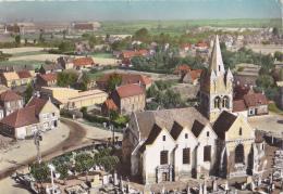 En Avion Au Dessus De Guarbecque - L'Eglise Au Milieu Des Tombes, Ateliers Au Fond - Circ Sans Date - France