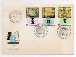 Ungheria - 1974 - XXI^ Olimpiade Gioco Scacchi -  Con Annulli - Vedi Foto - (BPLAST1) - Scacchi