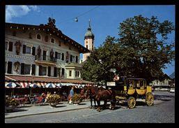 [015] Pferde-Karte 129, Postkutsche, Garmisch-Partenkirchen, ~1980 - Pferde