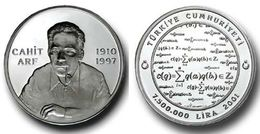 AC -  CAHIT ARF MATHEMATICIAN COMMEMORATIVE SILVER COIN 2001, TURKEY PROOF - UNCIRCULATED - Turkey