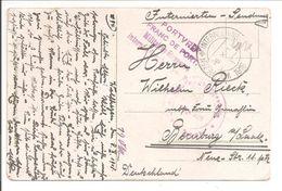 Interneringskamp Wolfhezen Kortebalk Stempel & Portvrijstempel.  Oorlog 1914-1918. Grande Guerre.Weltkrieg - Covers & Documents