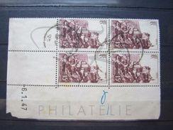 """VEND TIMBRES N° 763 EN BLOC DE 4 COIN DATE """" 6.1.47 """" !!! - 1940-1949"""