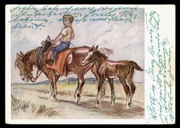 [015] Pferde-Karte 153, Künstlerkarte C.E. Fischer, ~1970 - Pferde