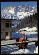[015] Pferde-Karte 157, Pferdeschlitten, Tirol, Gel. 1985 - Pferde
