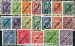 "Austria 1918/19 Michel #228/46-IA MNH/Luxe. Overprinted ""Republik Deutschösterreich"". (B14) - Sellos"