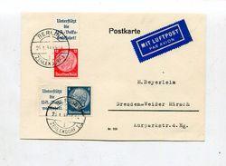 """Deutsches Reich / Lupo-Postkarte Frank. Mit Zdr. """"Hindenburg"""" O Berlin-Zehlendorf (10/843) - Germany"""