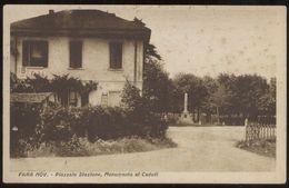 FARA NOVARESE - NOVARA - INIZI 900 - PIAZZALE STAZIONE E MONUMENTO AI CADUTI - Novara