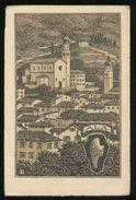 ALA - TRENTO - INIZI 900 - PANORAMA CON STEMMA - Trento