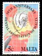 MALTE. N°899 De 1994 Oblitéré. Dentiste. - Medicine