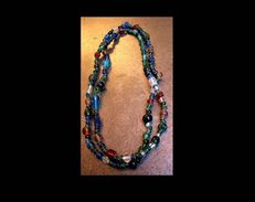 Beau Collier Africain Perles En Verre - Colliers/Chaînes