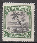 AITUTAKI   SCOTT NO.  34      MINT HINGED      YEAR  1924 - Aitutaki