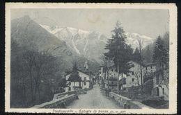 PIEDICAVALLO - BIELLA - 1921 - ENTRATA NEL PAESE - Biella