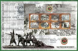 INDIA 2017 Inde Indien - 1942 FREEDOM MOVEMENT 8v - FDC With Brochure MNH ** - Mahatma Gandhi, Quit India - As Scan - FDC