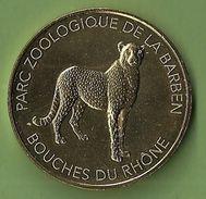 Monnaie De Paris Médaille Touristique Félins Zoo LA BARBEN 2017 Guépard Animaux Parc Zoologique France Jetons - Monnaie De Paris