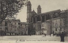 BASTIA - Place Du Marché ) Eglise St Jean - Ed. J Moretti - Bastia