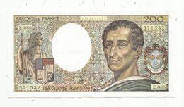 Cp , Billet , 200 Francs MONTESQUIEU , 1990 , E.086 , SUP , 2 Scans - 1962-1997 ''Francs''