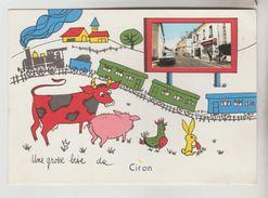 CPSM CIRAN (Indre) - Une Grosse Bise De....CIRAN - France