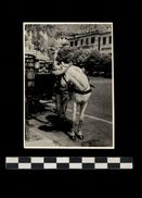 [015] Pferde-Photo 252, Kutsche, ~1950, Italien, Privates Photo, Coca-Cola-Reklame - Pferde