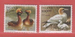 1991 ** Islande  (sans Charn., MNH, Postfrish)     Yv  691/2Mi  738/9FA  775/6 - 1944-... Republik