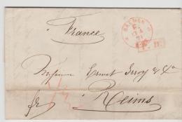 Brs244 /  BRAUNSCHWEIG - Bremen F-Stempel 1871 Auf Firmenbrief Nach Frankreich (Rheims) - Brunswick