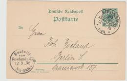 Kra161 / DEUTSCHES REICH -  Sonderstempel Berlin Anwaltstag 1896 Auf Ortskarte - Covers & Documents