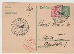 W-L075 /  DEUTSCHES REICH - Postflug 1927, Berlin - Prag - Wien - Briefe U. Dokumente