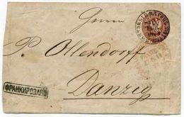 "Russia 1873 Railway VAN 27-28 Warszawa- Aleksandrov ""FRANCO"" Postmarks Danzig - 1857-1916 Impero"